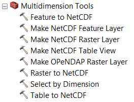 Reading netCDF data using geoprocessing tools—Help | ArcGIS