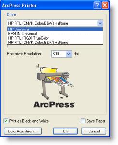 Printing using ArcPress—Help | ArcGIS Desktop