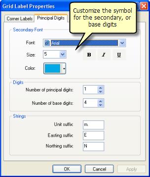 Prinl Digits Tab Of Grid Label Properties Dialog