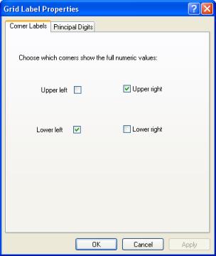 Corner Labels Tab Of Grid Label Properties Dialog