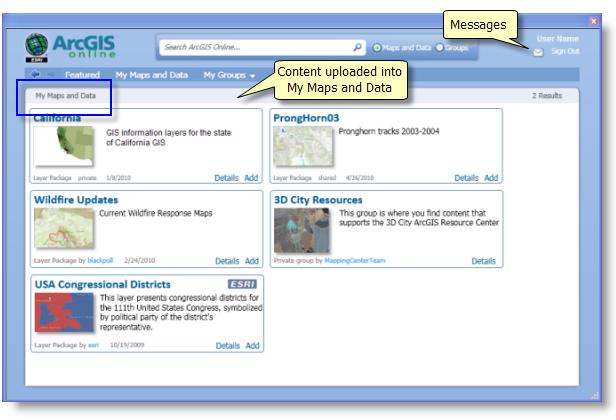 Using ArcGIS Online in ArcGIS Desktop applicationsHelp ArcGIS