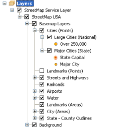 Using ArcGIS Server Map ServicesHelp ArcGIS Desktop - Map layers for us arcgis
