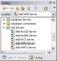 Connect to GIS servers—ArcMap | Documentation