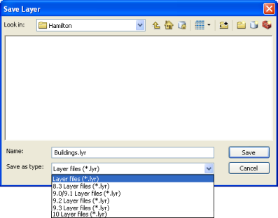 Saving layers and layer packages—Help | ArcGIS Desktop