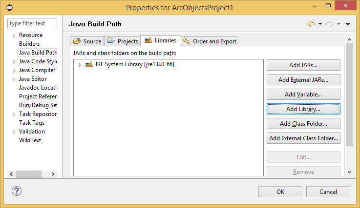 How to access ArcObjects Javadoc in Eclipse IDE—ArcObjects 10 4 Help