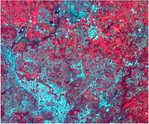 Imagen Landsat TM de entrada