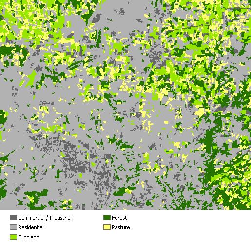 Mapa de uso del suelo clasificado de salida