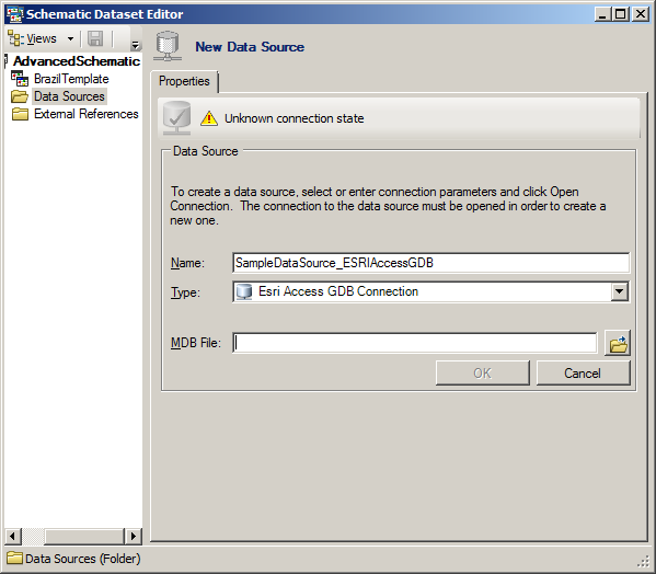 Configuring an ESRI Access GDB Connection data source—Help