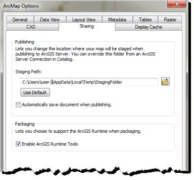 80d0ff0f78 Sous la section Empaquetage, sélectionnez Activer les outils ArcGIS Runtime.
