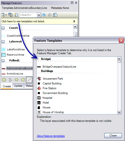 feature manager basics help arcgis desktop